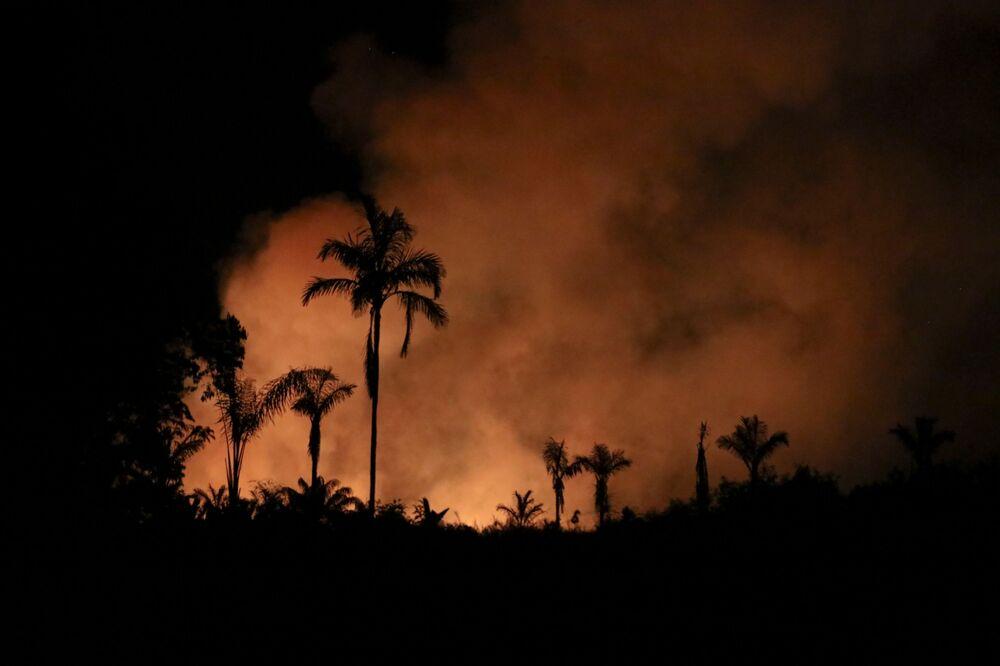 Incêndios florestais tomam conta da Amazônia neste mês, 3 de setembro de 2021