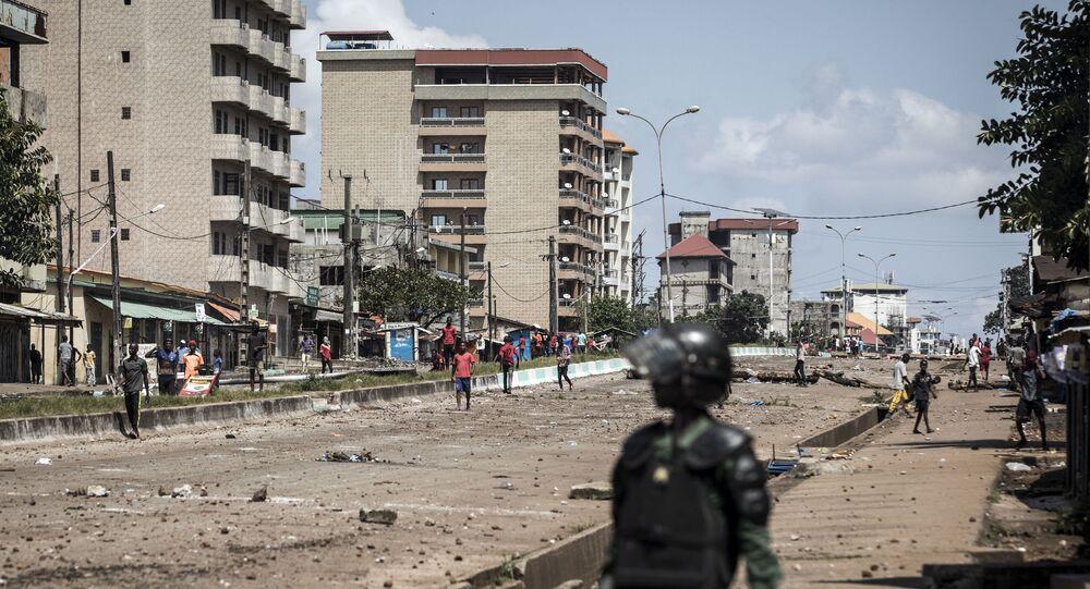 Policial na Guiné (imagem referencial)