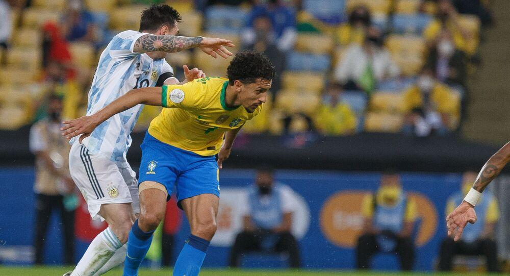Partida entre Brasil e Argentina, pela final da Copa América 2021, no Maracanã, Rio de Janeiro. Foto de arquivo