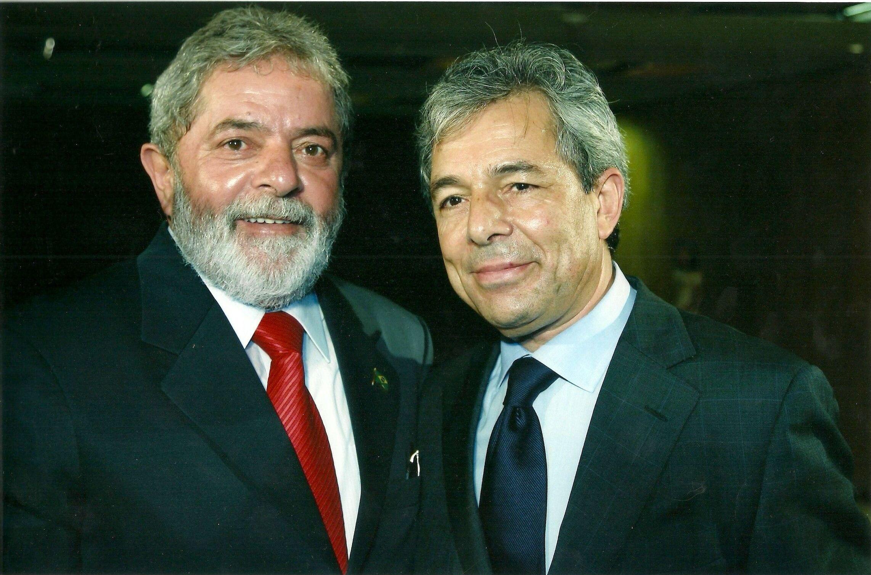 Carlos Fino com o ex-presidente Lula
