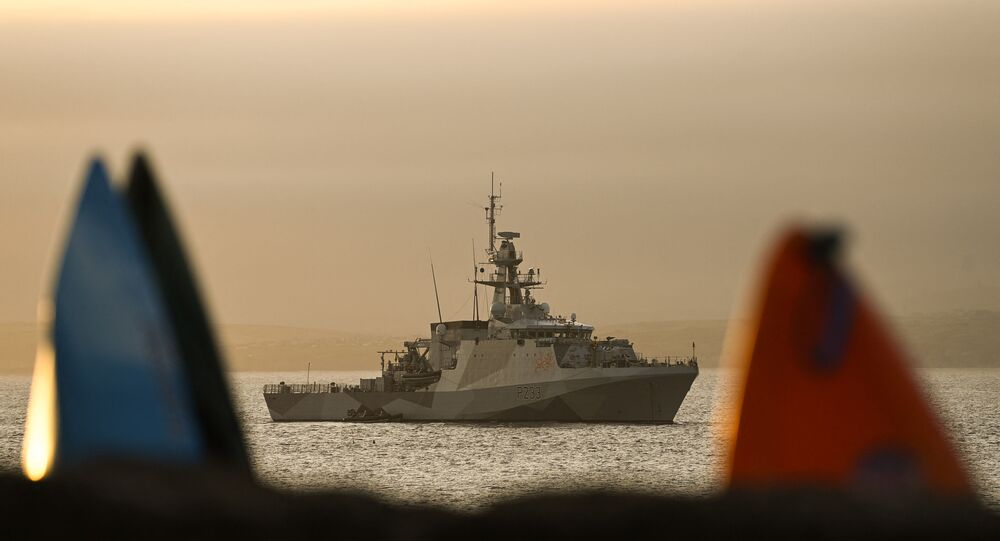 Navio-patrulha da Marinha britânica HMS Tamar