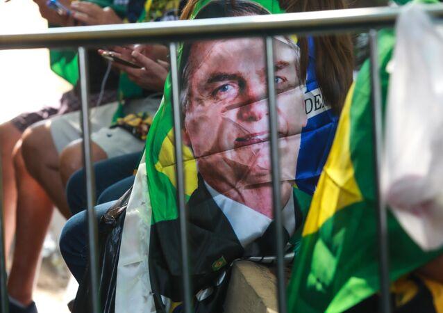 Ato a favor do presidente Jair Bolsonaro (sem partido), realizado na Avenida Paulista, em São Paulo, em 7 de setembro de 202