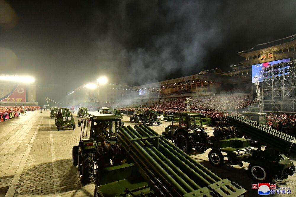 Equipamento militar mostrado no desfile comemorativo do 73º aniversário da fundação da Coreia do Norte, 9 de setembro de 2021