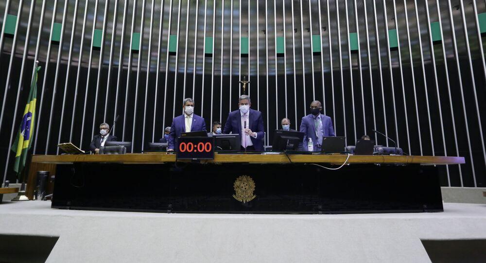 Discussão e votação de propostas com presidente da Câmara, dep. Arthur Lira PP-AL, 9 de setembro de 2021