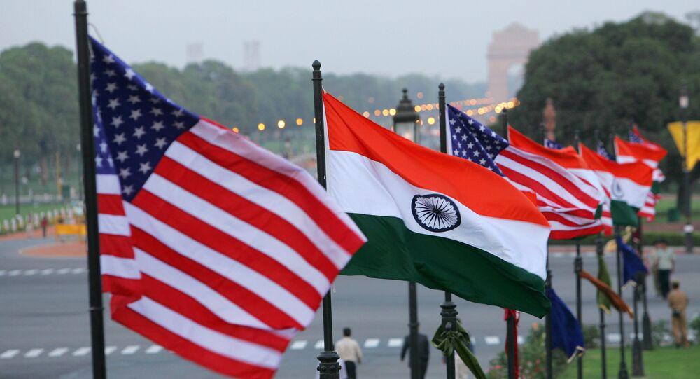Bandeiras da Índia e dos EUA
