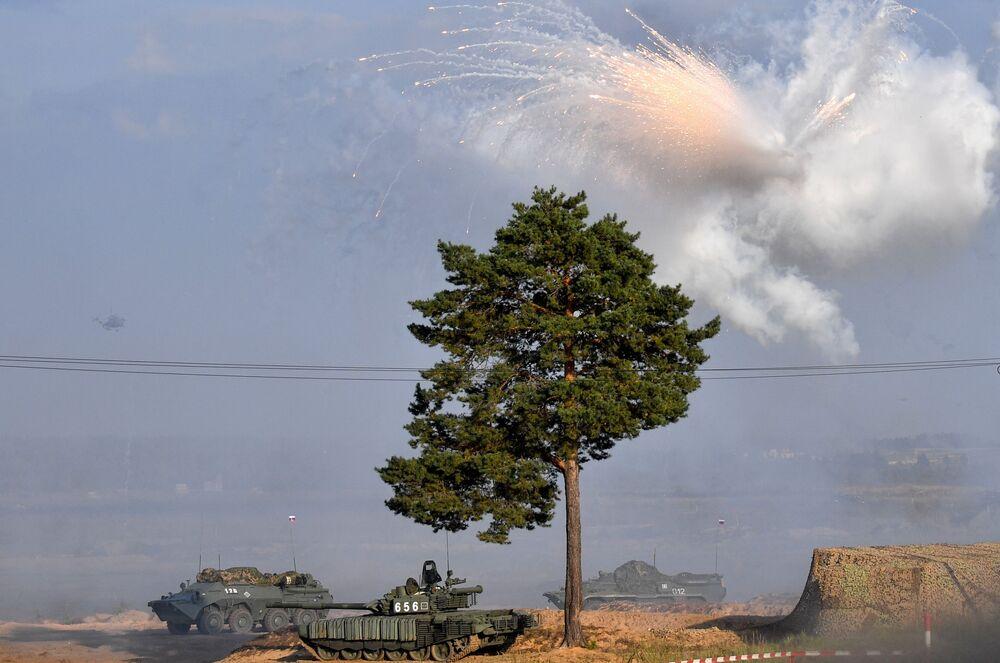 Etapa principal dos exercícios militares Zapad 2021, no polígono de Mulino, região de Nizhny Novgorod, Rússia