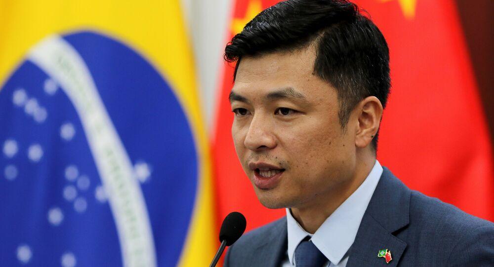 Entrevista do Embaixador Conselheiro da embaixada da China, Qu Yuhui, Brasília, 1º de fevereiro de 2021