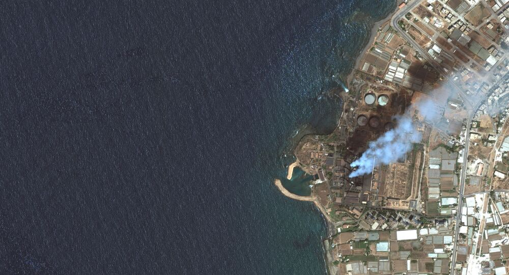 Imagem de satélite mostra usina elétrica em Baniyas, Síria, 27 de julho de 2021