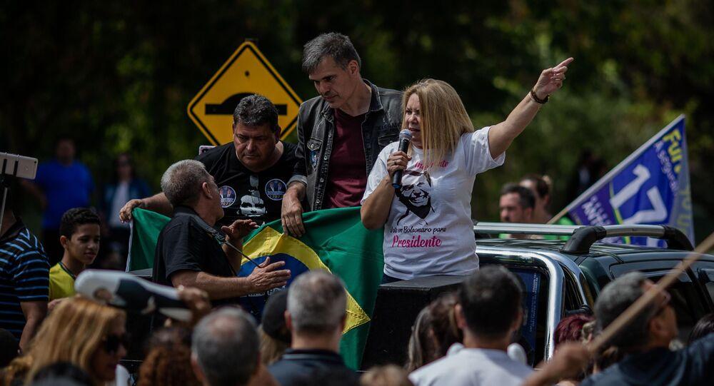 Ex-mulher do atual presidente da República, Jair Bolsonaro, Ana Cristina Valle. Foto de arquivo