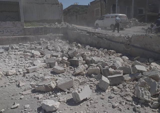 Ruínas em Idlib, Síria (imagem referencial)