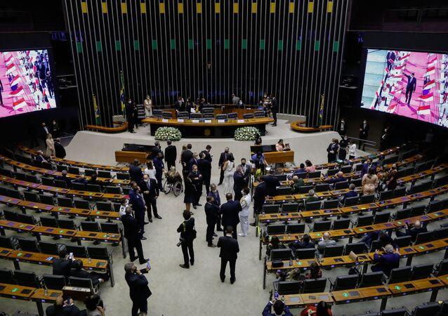 Câmara dos Deputados em Brasília, Brasil, 3 de fevereiro de 2021