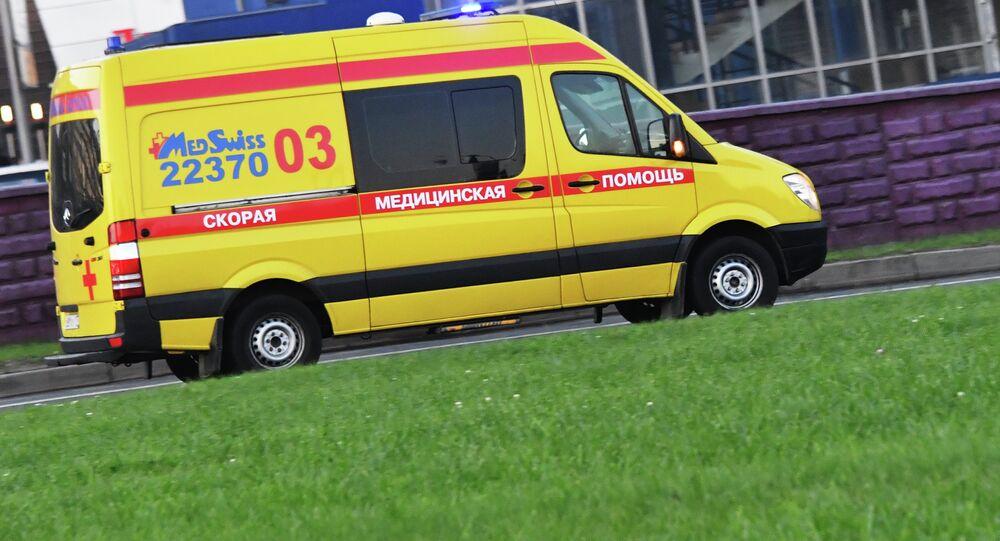 Ambulância russa privada (foto de arquivo)