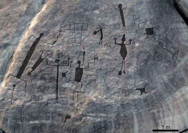 Pinturas rupestres dos Raudales de Atures, na Venezuela