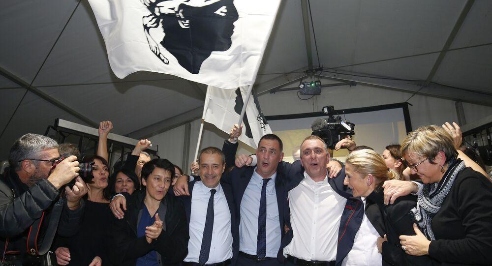 Jean Guy Talamoni and Gilles Simeoni do partido nacionalista Pè a Corsica
