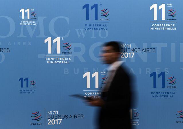 Participante da 11ª Conferência Ministerial da Organização Mundial de Comércio em Buenos Aires, Argentina