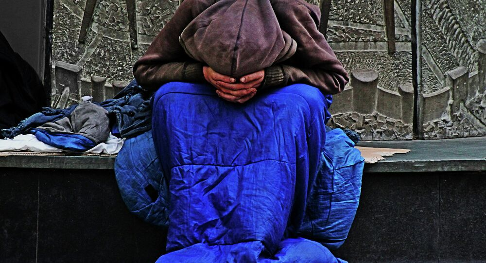 Homeless person in the UK
