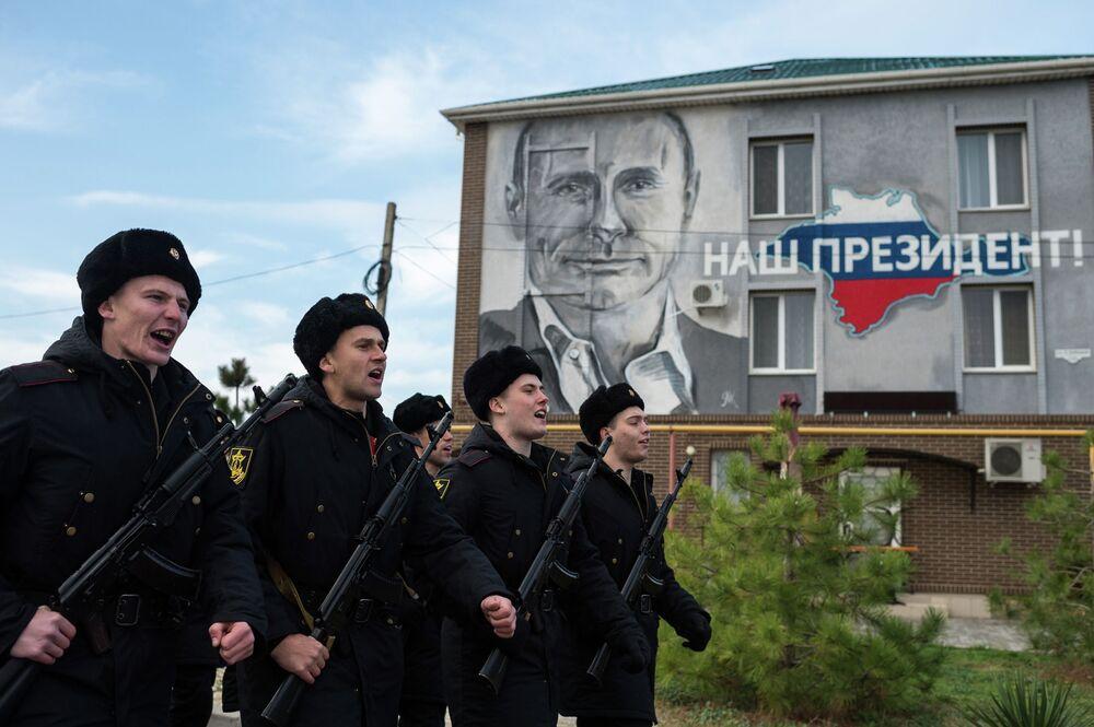 Brigada de infantaria naval da Frota do Norte da Rússia, em Sevastopol