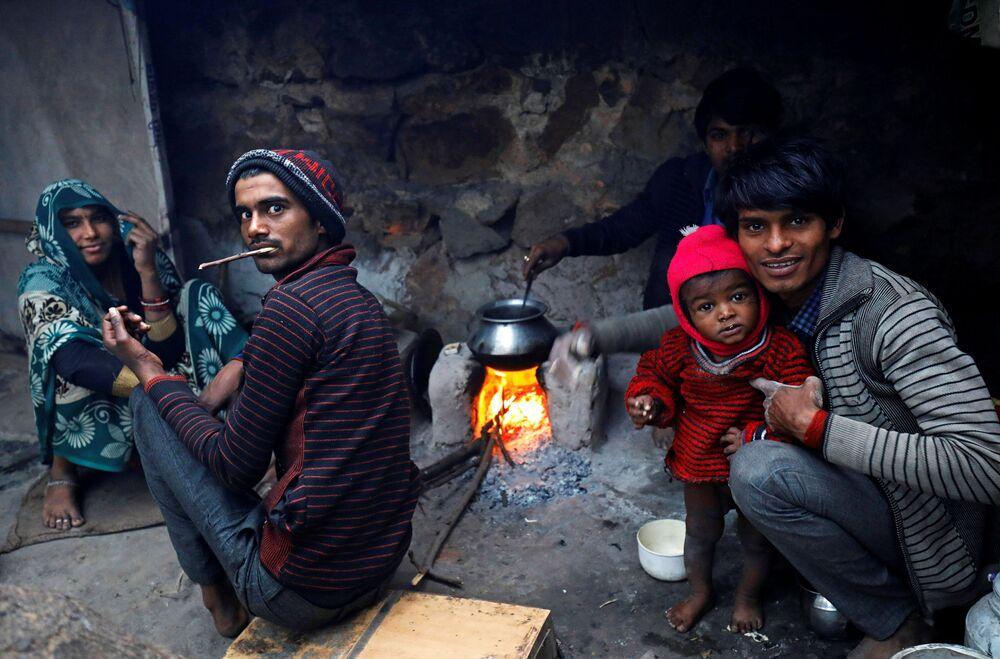 Café da manhã em Nova Deli, Índia