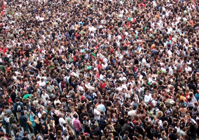 Multidão (imagem referencial)