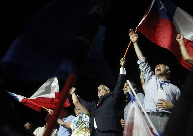Sebastián Piñera obteve 54,5% dos votos contra 45,2% de Alejandro Guillier
