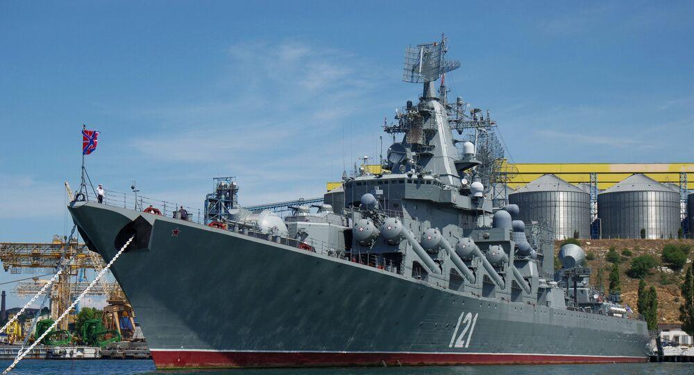 Navio da Frota do Mar Negro em Sevastopol, Rússia (foto de arquivo)