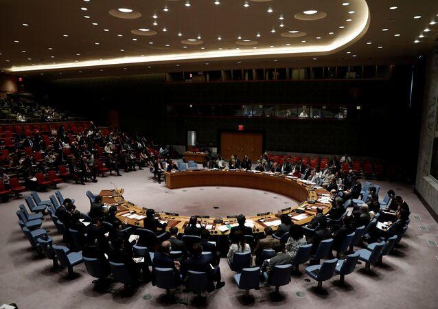 Sessão do Conselho de Segurança da ONU