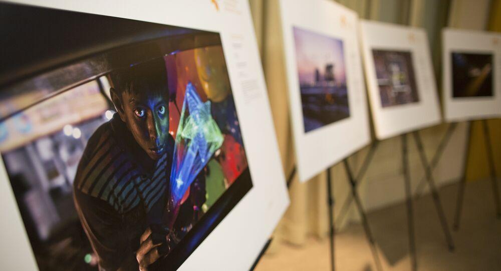 Exposição de vencedores do Concurso Andrei Stenin em Madri, 3 de novembro de 2017