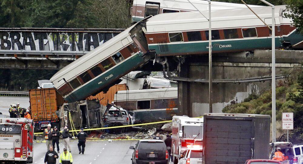 Trem de alta velocidade Amtrak que descarrilou no estado de Washington (imagem referencial)