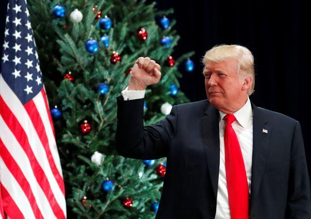 Donald Trump, presidente dos Estados Unidos desde 20 de janeiro de 2017