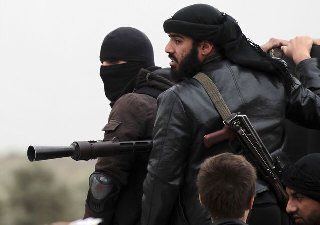 Militantes do grupo jihadista conhecido como Frente al-Nusra