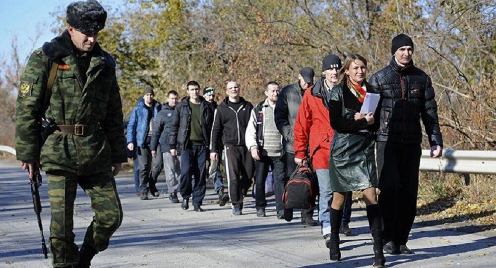 Troca de prisioneiros entre Kiev e Donbass, região de Lugansk