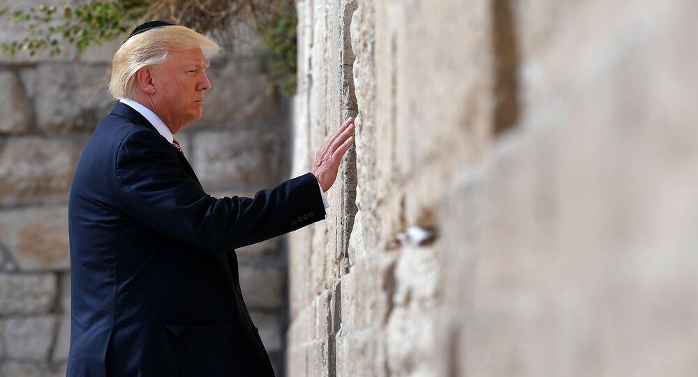 Presidente norte-americano, Donald Trump, no Muro das Lamentações, Cidade Velha de Jerusalém