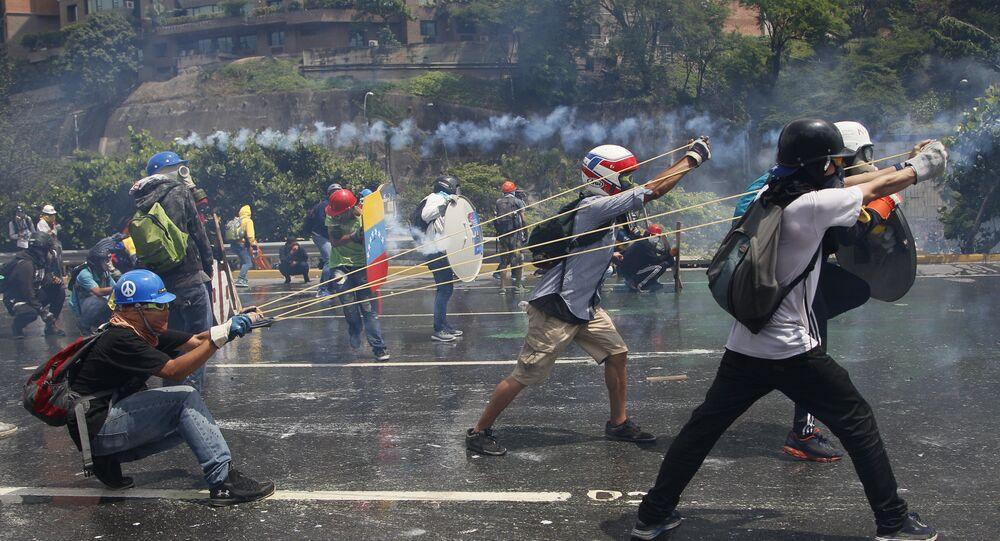 Protestos contra o governo na Venezuela