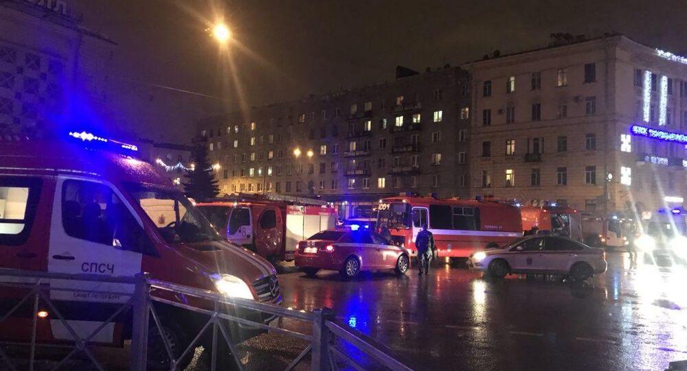 Explosão em um mercado na cidade russa de São Petersburgo. 27 de dezembro de 2017