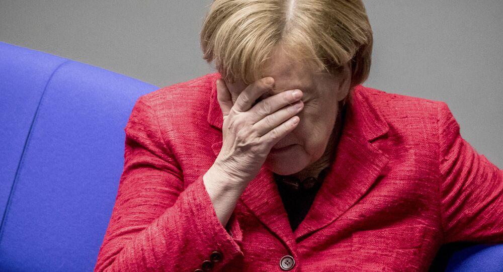 German Chancellor Angela Merkel attends a plenary session of German parliament Bundestag in Berlin, Tuesday, Nov. 21, 2017