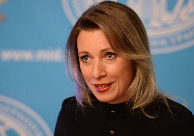 Maria Zakharova, representante oficial do Ministério das Relações Exteriores da Rússia, durante coletiva de imprensa (arquivo)