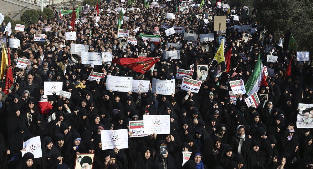 Protestos antigovernamentais em Teerã (arquivo)
