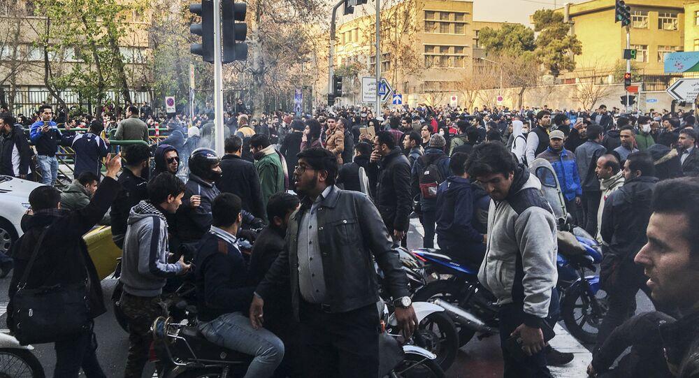 Os protestos no Irã, nos finais de dezembro de 2017