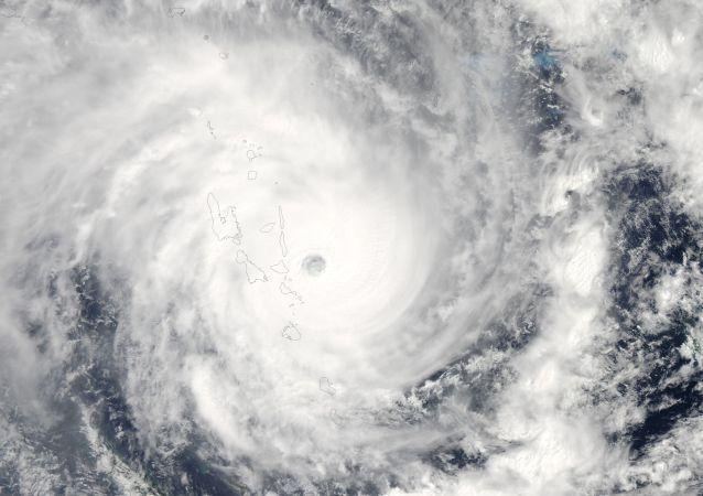 Ciclone visto do espaço (imagem ilustrativa)