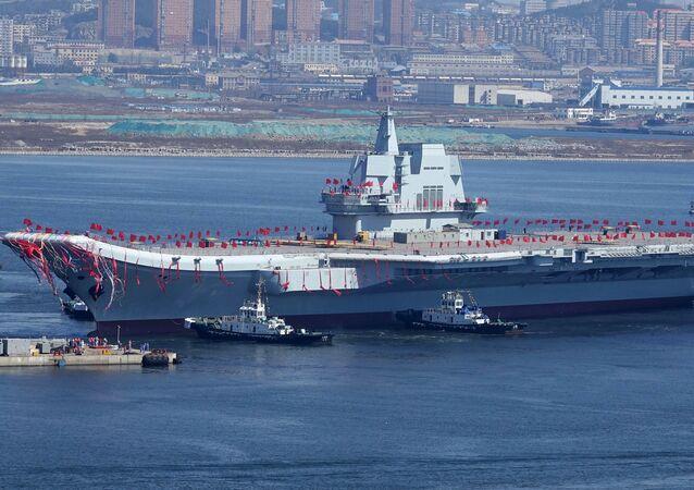 O segundo porta-aviões da Marinha da China, o Tipo 001A