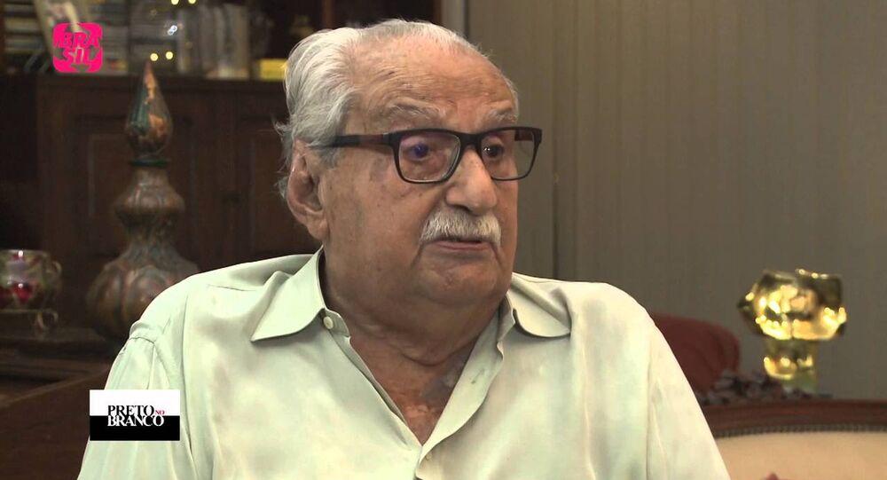 Carlos Heitor Cony em entrevista ao Programa Preto no Branco da TV Brasil (foto de arquivo).