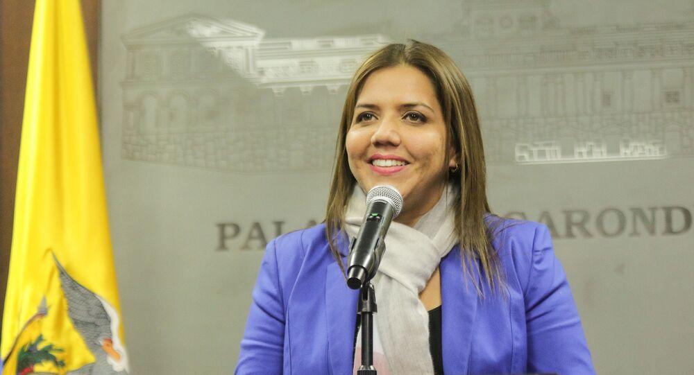 María Alejandra Vicuña, nova vice-presidente do Equador