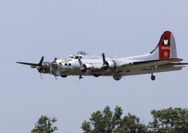 Boeing B-17 Flying Fortress construído pela Boeing durante a Segunda Guerra Mundial para a Força Aérea dos EUA (imagem referencial)