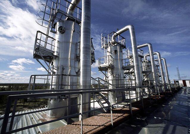 Poço de gás da companhia russa Novatek na região de Iamalo-Nenets