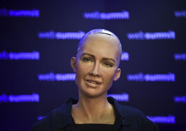 Robô humanoide Sophia desenvolvido pela empresa Hanson Robotics