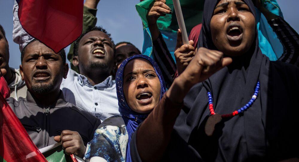 Protestos antigovernamentais na Etiópia