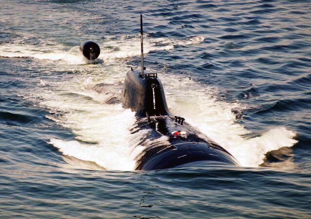 Submarino nuclear russo (imagem ilustrativa)