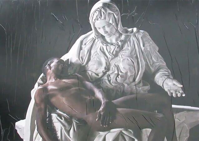 'Jesus negro' é retratado em obra que está exposta na Itália