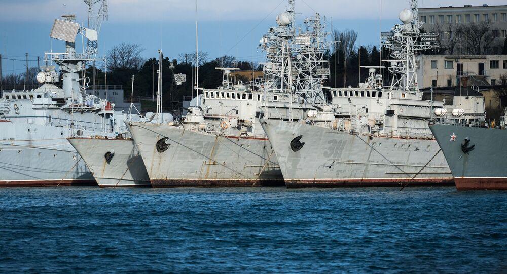 Navios ucranianos em Sevastopol, Rússia