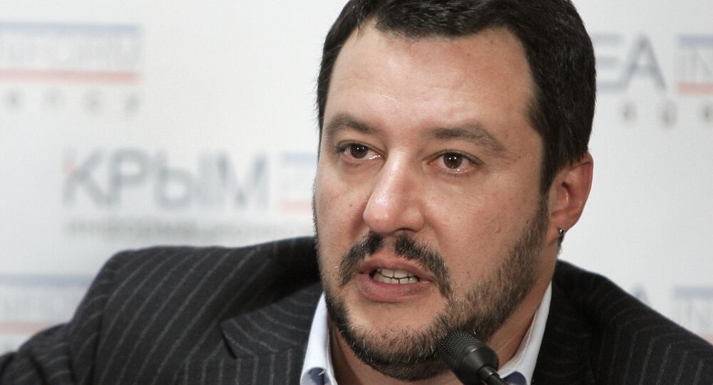 Matteo Salvini, líder do partido ultranacionalista italiano Lega Nord